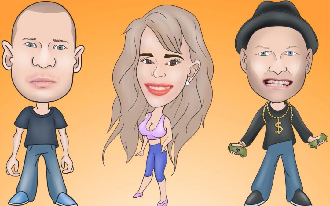 Gakket animeret musikvideo med Hampenberg og Yepha